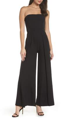 LuLu*s Count Me In Strapless Wide Leg Jumpsuit