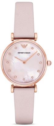 Emporio Armani Pink Strap Watch, 32mm $245 thestylecure.com