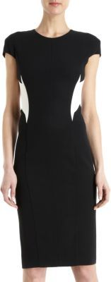Narciso Rodriguez Contrast Side and Back Panels Dress