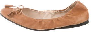 pradaPrada Logo-Embellished Ballet Flats