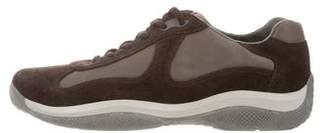 Prada Sport Nylon & Suede Low-Top Sneakers