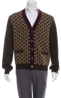 Gucci Wool Animal Print Knit Cardigan multicolor Wool Animal Print Knit Cardigan