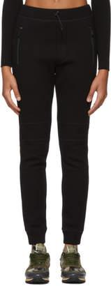 DSQUARED2 Black Tech Double Rib Lounge Pants