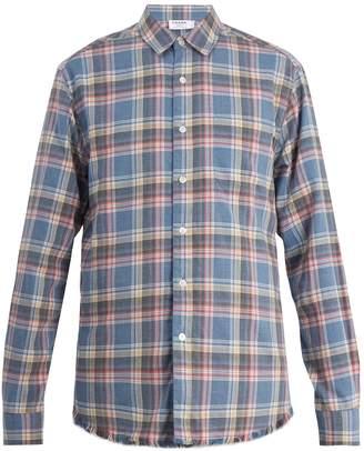 Frame Frayed-hem checked shirt
