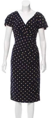 Lauren Ralph Lauren Polka Dot Midi Dress