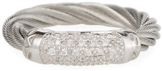 Alor White Diamond Pave Cable Ring