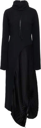 Victoria Beckham High-Neck Pleated Dress