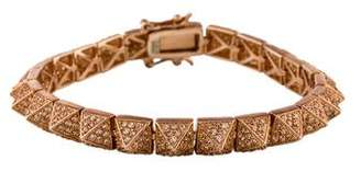 Eddie Borgo Crystal Pavé Pyramid Bracelet