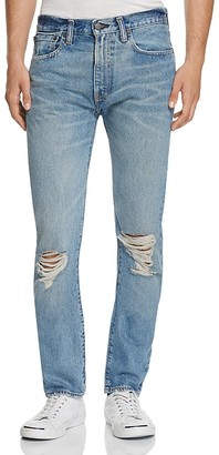 LEVI'S 505C Slim Straight Jeans in Dark Blue $98 thestylecure.com