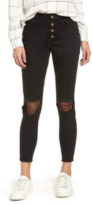 ZEZA B BY HUE Ripped Knee Denim Crop Leggings