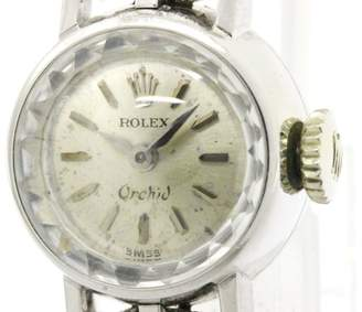 Rolex Orchid Stainless Steel Hand Winding 16mm Womens Watch