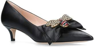 Gucci Leather Queen Margaret Pumps 45