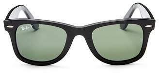 Ray-Ban Unisex Polarized Wayfarer Square Sunglasses, 50mm