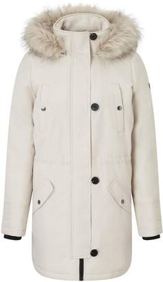 Next Womens Vero Moda Faux Fur Hood Parka Coat