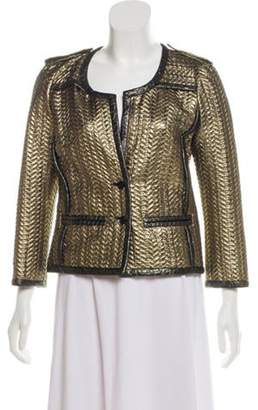 Isabel Marant Metallic Quilted Jacket Gold Metallic Quilted Jacket