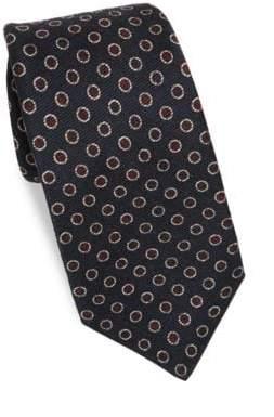 Kiton Dot Silk Tie