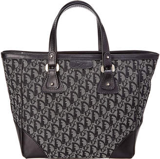 Christian Dior Limited Edition Black Trotter Canvas Tote