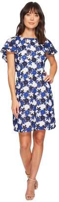 Calvin Klein Flutter Sleeve A-line Lace Dress CD8L16KL Women's Dress