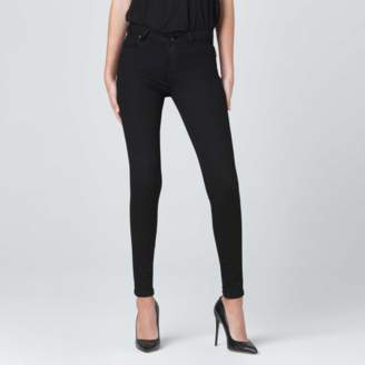 DSTLD High Waisted Skinny Jeans in Black