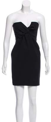 DSQUARED2 Strapless Wool Mini Dress