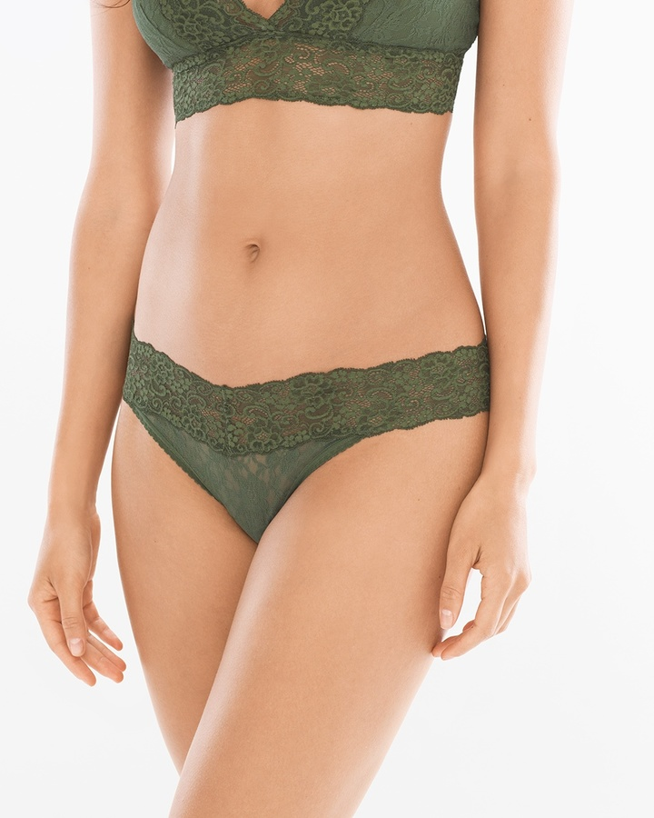 Soma Intimates Allover Lace Thong