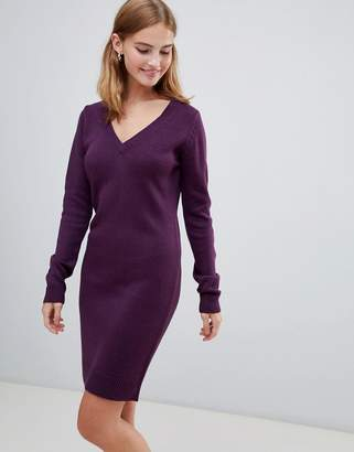 Brave Soul Jumper Dress with V Neck