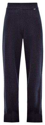 Extreme Cashmere - No. 104 Wide Leg Stretch Cashmere Track Pants - Womens - Navy