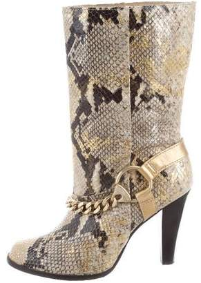 MICHAEL Michael Kors Snakeskin Chain Boots