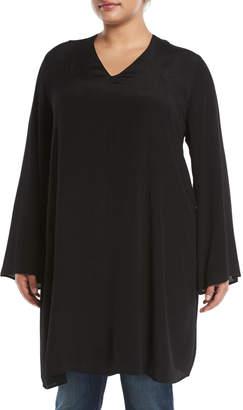 Glamorous V-Neck Bell-Sleeve Tunic, Plus Size