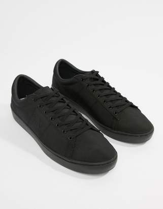Fred Perry Spencer nylon tonal sneakers in black