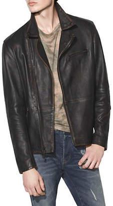 John Varvatos Nailhead Leather Biker Jacket