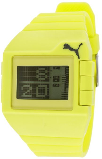 Puma Men's Don't Run Out Of Steam Digital Multi-Function Lime Rubber PU910861002 Watch