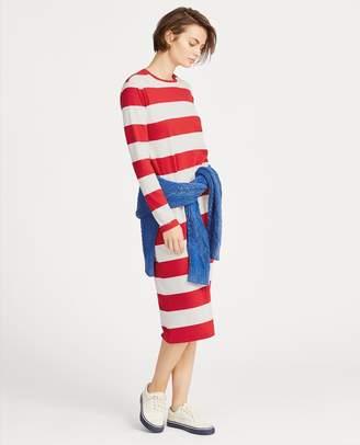 Ralph Lauren Striped Midi T-Shirt Dress