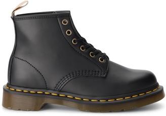 Dr. Martens 101 Black Vegan Leather Ankle Boots
