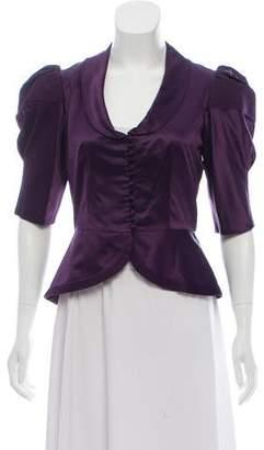 Ralph Lauren Black Label Embellished Short Sleeve Blazer