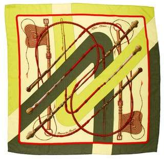 Hermes Clic Clac Cashmere Silk Scarf