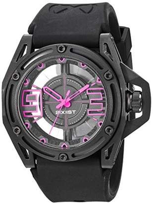 2xist 2(X) IST 'NYC' Quartz Stainless Steel and Silicone Casual Watch