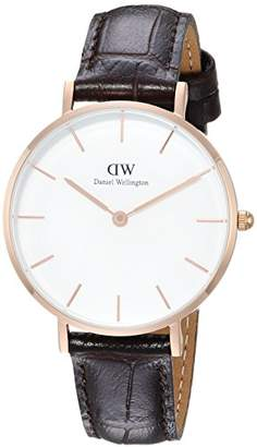 Daniel Wellington Women's Analogue Quartz Watch with Leather Strap DW00100176