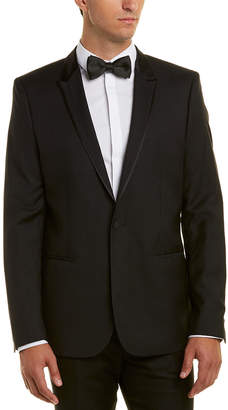 The Kooples Wool Fitted Tuxedo Jacket