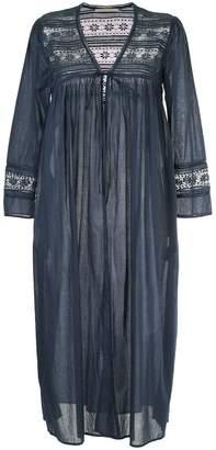 Ne Quittez Pas lace detail long gown cardigan
