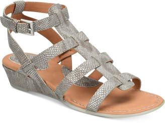 b.o.c. Heidi Snake-Embossed Sandals $70 thestylecure.com