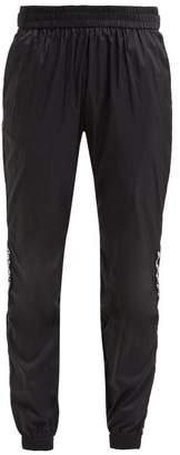 Paco Rabanne Logo Trimmed Nylon Track Pants - Womens - Black