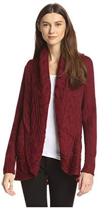 James & Erin Women's Open Cardigan Sweater
