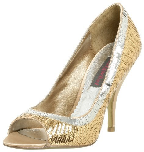 justsweet Women's Nichola Open Toe Pump