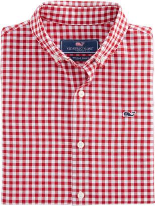 Vineyard Vines Boys Rockridge Poplin Whale Shirt