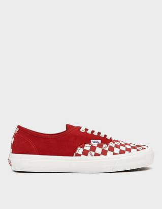 Vans Vault By OG Authentic LX Sneaker in Racing Red/Checkerboard