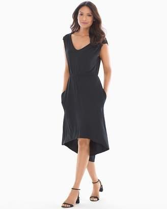 Soft Jersey Empire Waist Dress Black