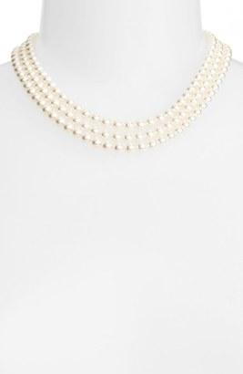 Women's Nadri Multistrand Imitation Pearl Necklace $125 thestylecure.com