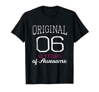 Cute Original 2006 - 12 Years of Awesome Girls Gift T-Shirt