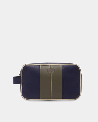 Ted Baker MARSHA Striped leather wash bag 21c799a9daacc